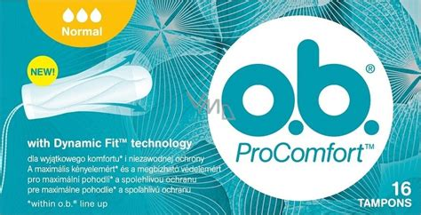 ob Pro Comfort Normal with Dynamic Fit Swabs 16 pieces