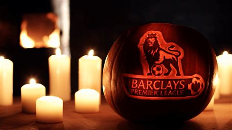 Professional pumpkin carving for Premier League by Sand in
