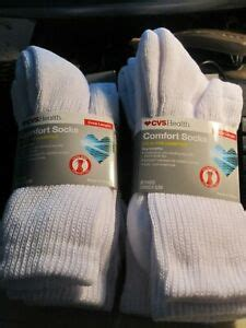 CVS Health Crew Length Comfort Socks Soft Diabetics ALL