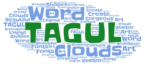 Tagul - Create a word cloud using different shapes