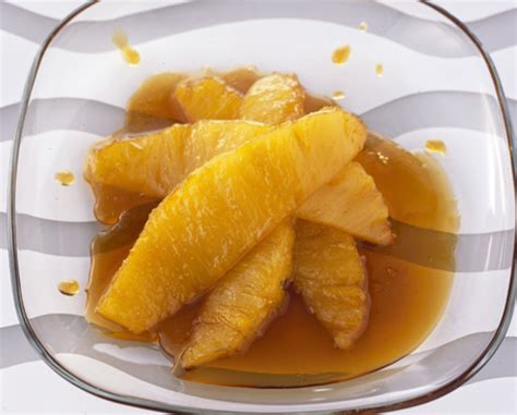 Sticky maple syrup pineapple