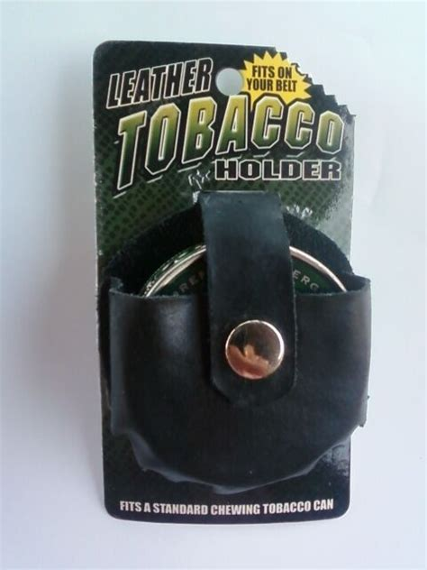 Leather Chewing Tobacco Pouch Snuff Snus Can Case Belt