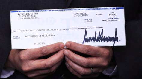 Trump donates US$100,000 from salary to alcoholism
