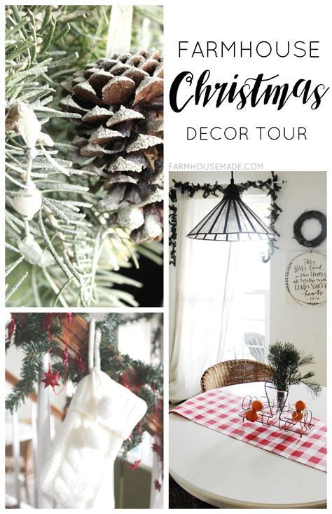 Farmhouse Christmas Decor Tour - F A R M H O U S E
