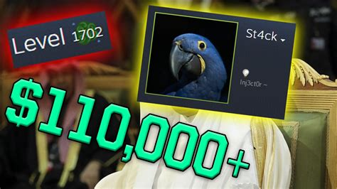 MAN SPENDS $110,000 ON STEAM LEVELS! (St4ck New Highest