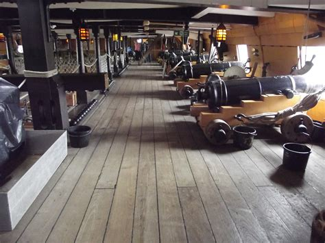 HMS Victory - Portsmouth Historic Dockyard - Upper Gun Dec