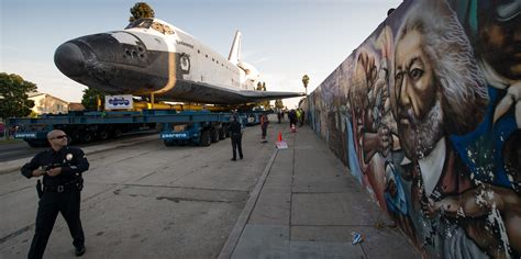 Shuttle Endeavour Arrives at CSC After 2-Day Trip Through