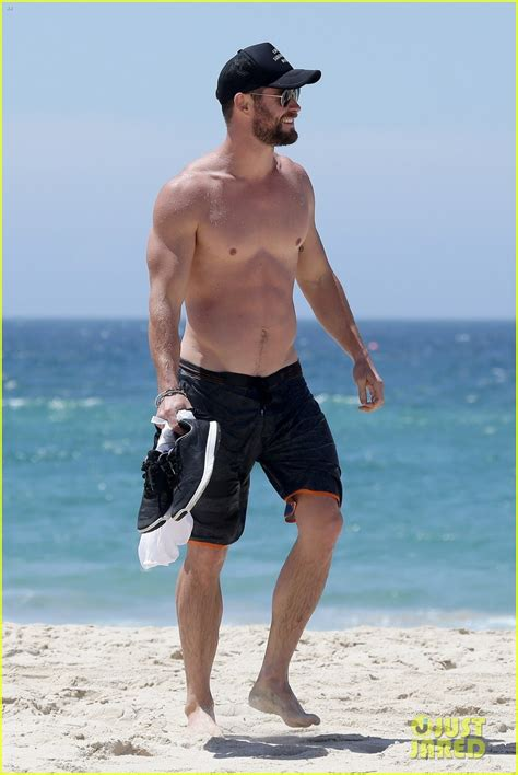 Chris Hemsworth Goes Shirtless, Bares Ripped Body in