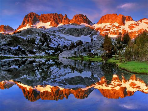 Ediza Lake Thousand Island Sierra Nevada California Usa