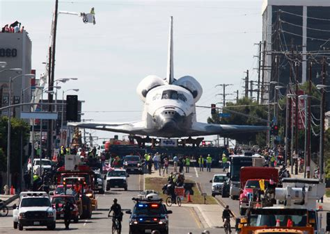 Space Shuttle Endeavour Rolls Through Los Angeles - The