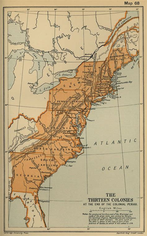 13 colonies map - Free Large Images