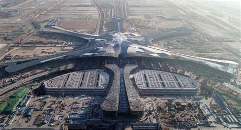 In pics: Beijing's new airport gets its roof - People's