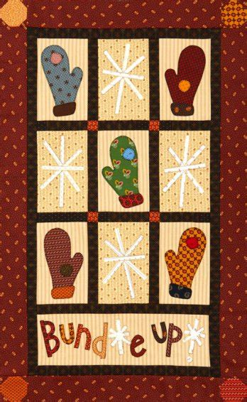 Mittens and Snowflakes Wall Quilt | AllPeopleQuilt