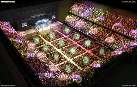 Amsterdam Ziggo Dome Arena - Concert chart with stage