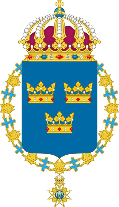Fil:Coat of arms of Sweden (shield and chain)
