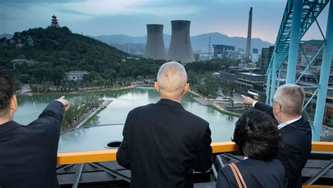 Beijing's former industrial complex Shougang district sees