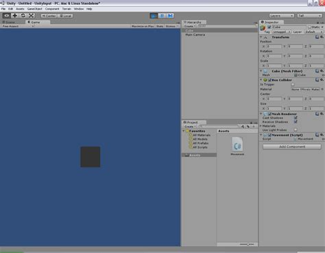 Programmer's Ranch: Unity3D: Moving an Object with