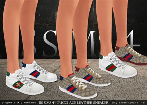 [JS SIMS 4] Gucci Ace Leather Sneaker | Sims 4 Updates