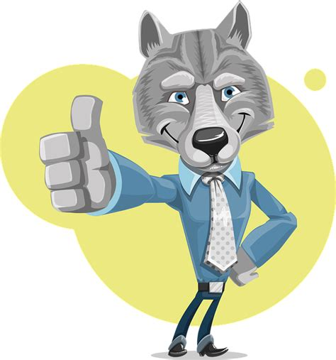 Free vector graphic: Wolf, Corporate, Cute, Business