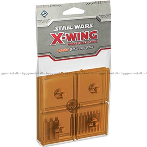 Star Wars: X-wing Miniatures Game - Orange Bases and Pegs!