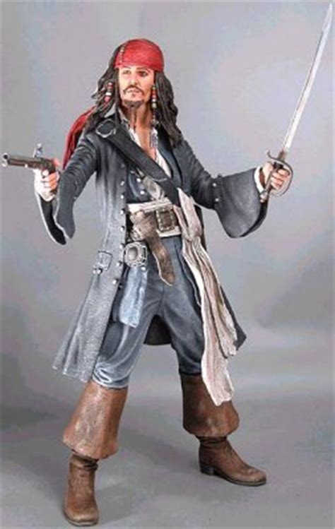 Jack Sparrow talking articulated doll (Serious face