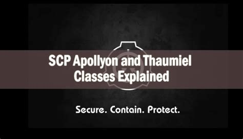 SCP Apollyon and Thaumiel Classes Explained - Cryptids Guide