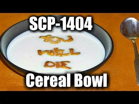 SCP-1404 Cereal Bowl   Object Class: Safe   food scp - YouTube