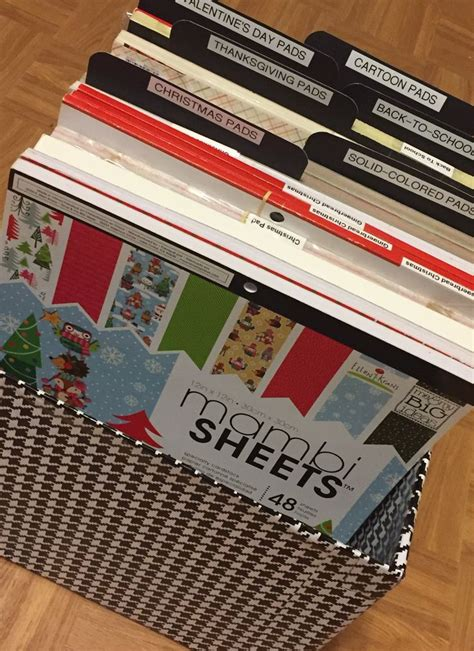DIY 12 x 12 PAPER PAD STORAGE: Currently this is how I'm
