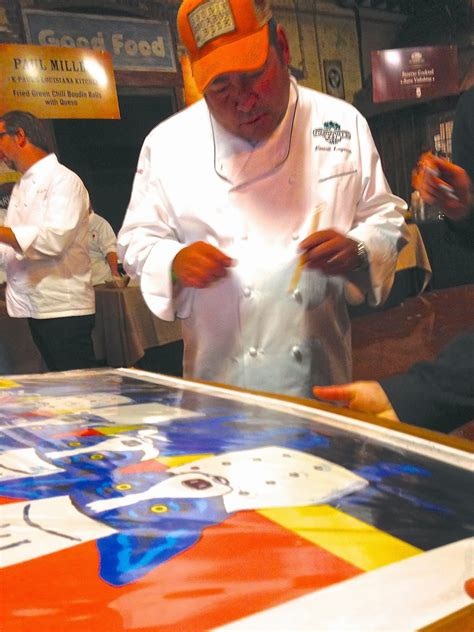 George Rodrigue Foundation News: Raffle: Famous Chefs Sign
