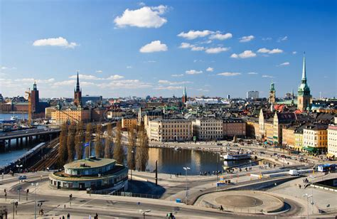 Stockholm city view editorial photo