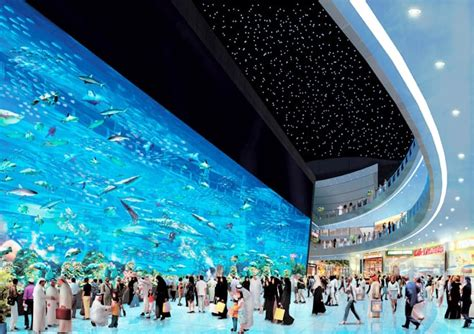 The World's Largest Shopping Mall Dubai with Aquarium and