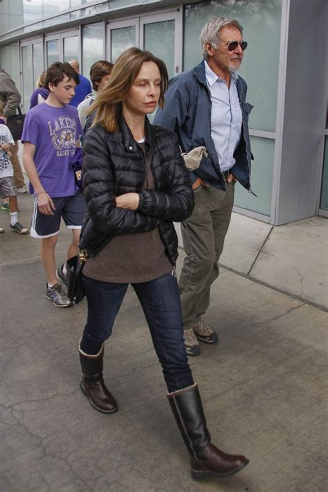 Calista Flockhart Goes Makeup-Free at a Lakers Game