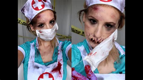 HALLOWEEN TUTORIAL | CREEPY NURSE - YouTube