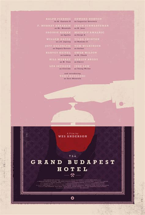 THE GRAND BUDAPEST HOTEL Movie Poster on Behance