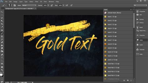 Metallic Gold Photoshop Effects FREE DOWNLOAD - YouTube