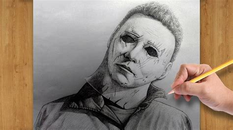 How to Draw Michael Myers with Pencil ( Halloween 2018