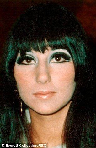 Cher double winged eyeliner 1960's | 70s makeup, 60s